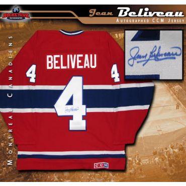 Jean Beliveau Autographed Montreal Canadiens Red CCM Jersey