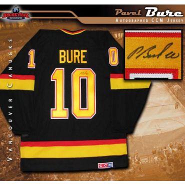 Pavel Bure Autographed Vancouver Canucks Black CCM Retro Jersey