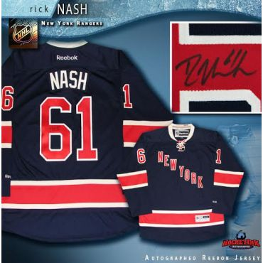 Rick Nash Autographed New York Rangers Alternate Blue Reebok Jersey
