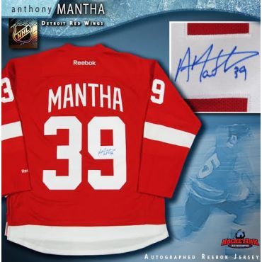 Anthony Mantha Autographed Detroit Red Wings Red Reebok Jersey