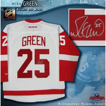 Mike Green Autographed Detroit Red Wings White Reebok Jersey
