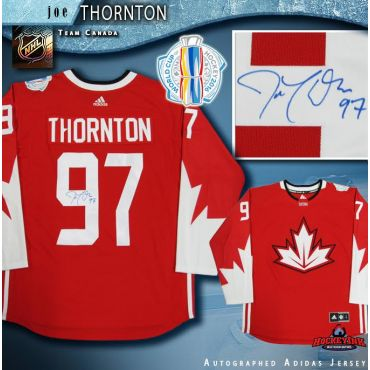Joe Thornton Autographed 2016 World Cup of Hockey Team Canada Red Adidas Jersey