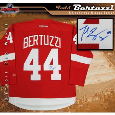Todd Bertuzzi Autographed Detroit Red Wings Red Reebok Jersey
