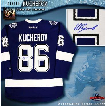 Nikita Kucherov Autographed Tampa Bay Lightning Blue Reebok Jersey