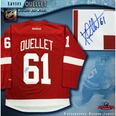 Xavier Ouellet Autographed Detroit Red Wings Red Reebok Jersey
