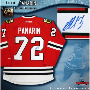 Artemi Panarin Autographed Chicago Blackhawks Red Reebok Jersey