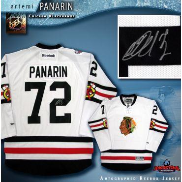 Artemi Panarin Autographed Chicago Blackhawks White Reebok Jersey
