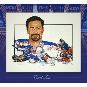 Grant Fuhr Limited Edition Lithograph
