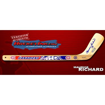 Maurice Richard Autographed Montreal Canadiens Mini-Stick