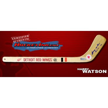 Harry Watson Autographed Detroit Red Wings Mini-Stick