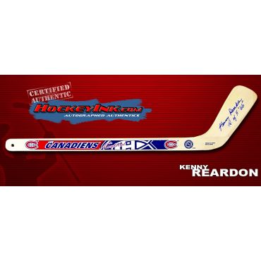Kenny Reardon Autographed Montreal Canadiens Mini-Stick