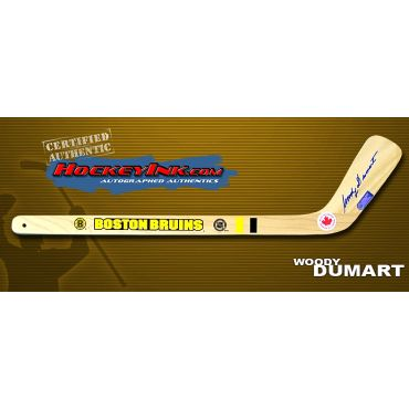 Woody Dumart Autographed Boston Bruins Mini-Stick