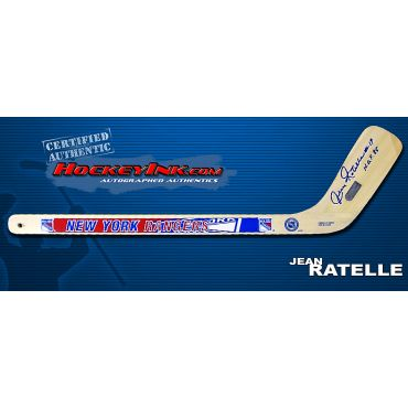 Jean Ratelle Autographed New York Rangers Mini-Stick