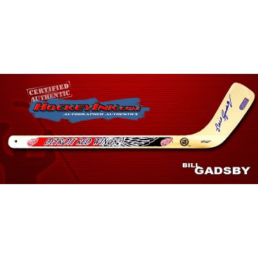 Bill Gadsby Autographed Detroit Red Wings Mini-Stick