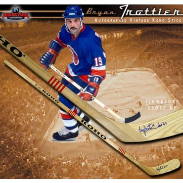 Bryan Trottier New York Islanders Autographed Koho Model Stick
