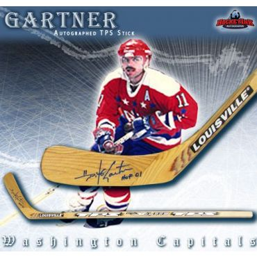 Mike Gartner Washington Capitals Autographed TPS Model Stick
