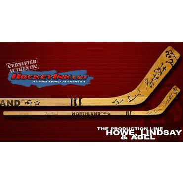 Production Line Vintage Northland Jr. Autographed Stick
