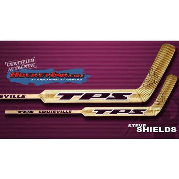 Steve Shields TPS Louisville Player Model Autographed Stick