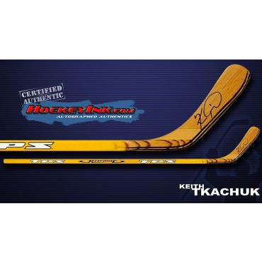 Keith Tkachuk TPS Response Player Model Autographed Stick