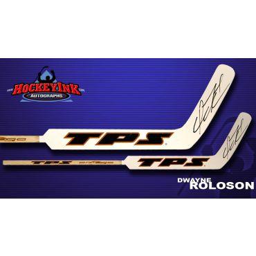 Dwayne Roloson Autographed TPS Model Stick