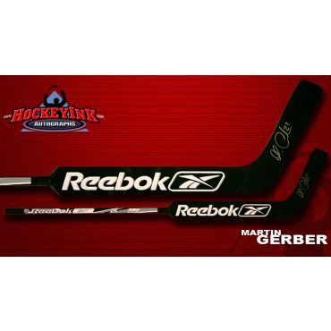 Martin Gerber Autographed Reebok Model Stick
