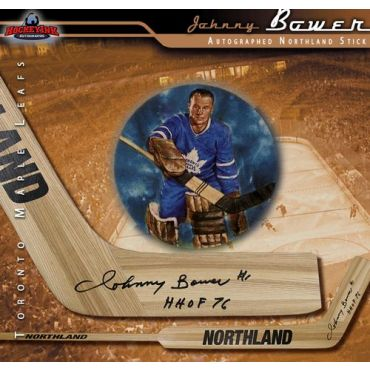 Johnny Bower Toronto Maple Leafs Autographed Northland Model Stick