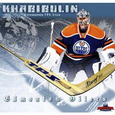Nikolai Khabibulin Edmonton Oilers Autographed TPS Model Stick