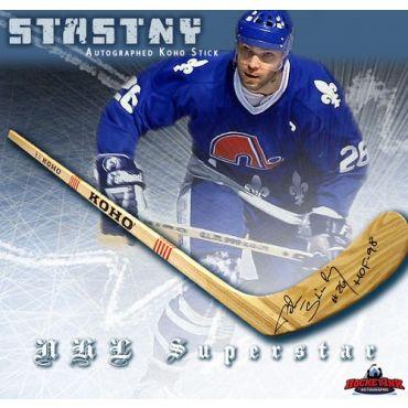 Peter Stastny Quebec Nordiques Autographed Koho Model Stick