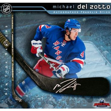 Michael Del Zotto New York Rangers Autographed Franklin Model Stick