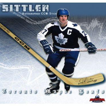 Darryl Sittler Toronto Maple Leafs Autographed CCM Model Stick