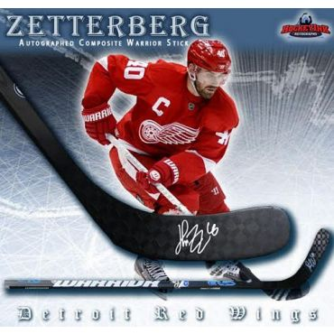 Henrik Zetterberg Detroit Red Wings Autographed Composite Warrior Stick