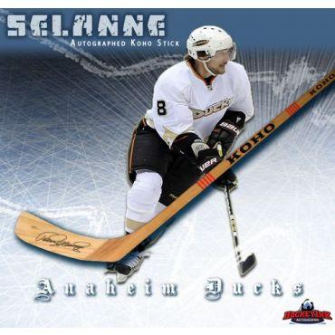 Teemu Selanne Anaheim Ducks Autographed Koho Model Stick