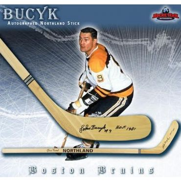 John Bucyk Boston Bruins Autographed Northland Model Stick