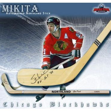 Stan Mikita Chicago Blackhawks Autographed Northland Model Stick