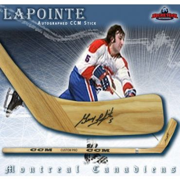 Guy Lapointe Montreal Canadiens Autographed Wood Model CCM Player Hockey Stick
