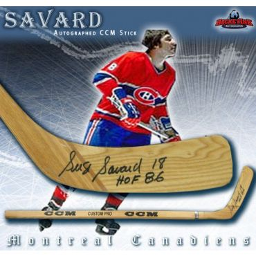 Serge Savard Montreal Canadiens Autographed Wood Model CCM Player Hockey Stick