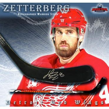 Henrik Zetterberg Detroit Red Wings Autographed Warrior Composite Stick