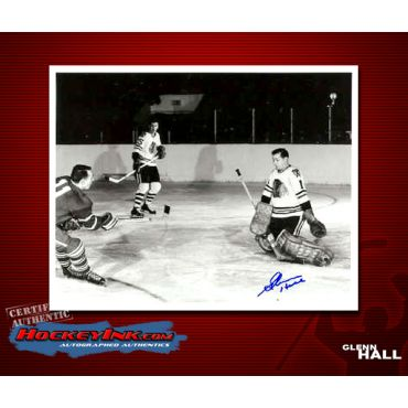 Glenn Hall Autographed Chicago Blackhawks 8 x 10 Photo