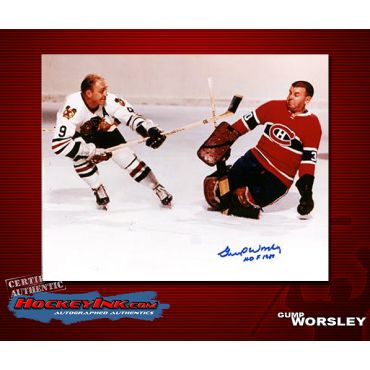Gump Worsley  Autographed Montreal Canadiens 8 x 10 Photo