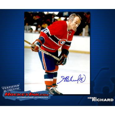 Henri Richard Autographed Montreal Canadiens 8 x 10 Photo