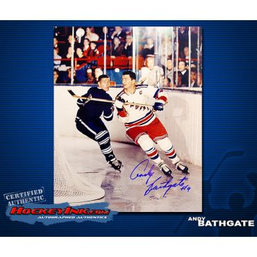 Andy Bathgate New York Rangers 8 x 10 Autographed Photo