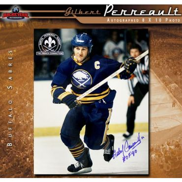 Gilbert Perreault Autographed Buffalo Sabres 8 x 10 Photo