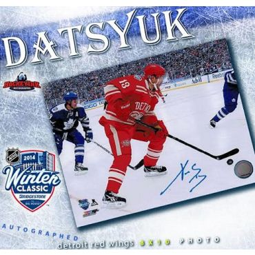 Pavel Datsyuk 2014 Winter Classic Detroit Red Wings Autographed 8 x 10 Photo