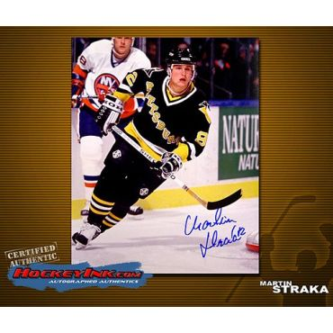 Martin Straka Pittsburgh Penguins Autographed 8 x 10 Photo