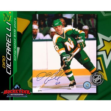Dino Ciccarelli Minnesota North Stars 8 x 10 Autographed Photo