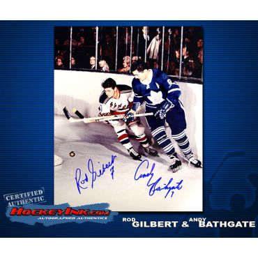 Rod Gilbert and Andy Bathgate 8 x 10 Autographed Photo