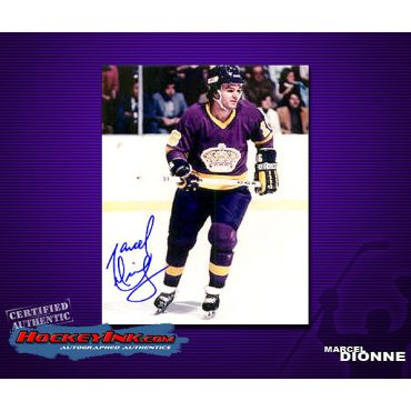 Marcel Dionne  Autographed Los Angeles Kings 8 x 10 Photo