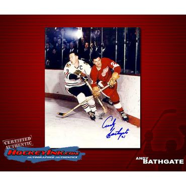 Andy Bathgate Detroit Redwings  Autographed 8 x 10 Photo