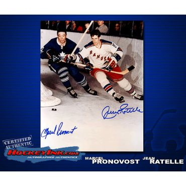 Marcel Pronovost / Jean Ratelle  Autographed 8 x 10 Photo