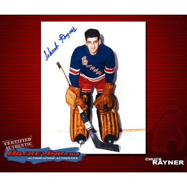 Chuck Rayner New York Ranges Autographed 8 x 10 Photo